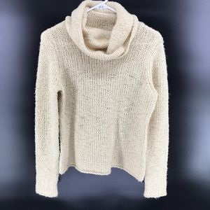 Eileen Fisher Sweater Chunky Wool Camel Hair Top